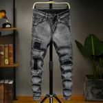 Casual Pencil Ripped Streetwear Harem Hip Hop Stretch Jeans