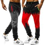 Casual Gradient Track Slim Hip Hop Style Pants