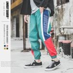 Colorful Patchwork Ankle Pants