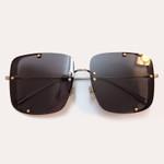 Trendy Half Frame Square Sunglasses