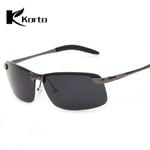 Rectangle Polarized Fishing Luxury Rimless Sunglasses
