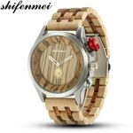 Fashion Casual Brand Waterproof Quartz Wood Watches