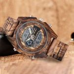 Luxury Sport Military Multi-Functional Wood Watches