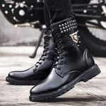 Fashion Ankle Motorcycles Casual Lace Up Boots