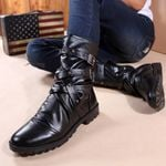 England Style Motorcycle Martin Boots