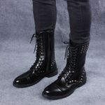 Punk Rivets Studded Stylish Motorcycle PU Leather Boots