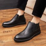 Luxury Fashion Split Leather Brogues Classic Oxford Shoes