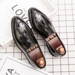 Split Leather Formal Lace Up Oxford Shoes