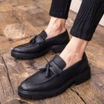 Fashion Split Leather Casual Flat Tassels Oxford Shoes