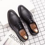 Luxury Black Split Leather Formal Oxford Shoes