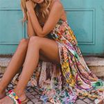 Fashion Strappy Slip Maxi Boho Dress