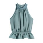 Glamorous Halter Elastic High Waist Sleeveless Boho Tops