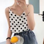 Fashion Dots Print Chiffon Sexy Boho Bohemian Tops