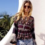 Deep V-neck Sexy Boho Shirts