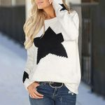 Star Pullover Knit Loose Long Sleeve Boho Sweaters