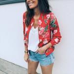 Fashion Long Sleeve Floral Print Boho Jacket
