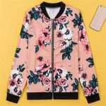 Casual Floral Vintage Office Zipper Boho Jackets
