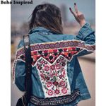 Embellished Denim ethnic hippie chic gypsy Boho Bohemian Jackets