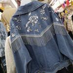 Denim Vintage floral Embroidery Boho Jacket