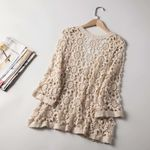 Lace Flower Crochet Boho Vintage Kimono