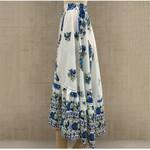 Long Gypsy Flowers Elastic Waist Floral Print Boho Bohemian Skirts