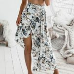 Print Casual High Waist Piece Boho Bohemian Skirts