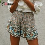 elastice wais high fashion boho shorts