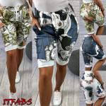 Floral Casual Elastic Slim Fit Boho Shorts