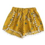 Fashion Lace Printing Mid Waist Loose Boho Bohemian Shorts