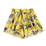 Casual Pineapple Printing Mid Waist Loose Boho Bohemian Shorts