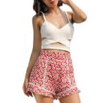 Casual Ruffles High Waist Floral Print Boho Bohemian Shorts