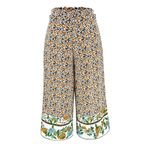 Multicolor Paperbag Waist Floral Print straight Boho Pants