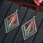 Ethnic Handmade Winding Wire Geometric Earring