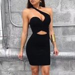 Sexy Black Bandage Elegant One Shoulder Dresses