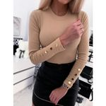 Long Sleeve O Neck Solid Color T-shirts