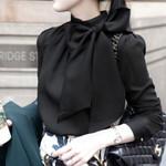 Chiffon Long Sleeve Slim Elegant Blouses