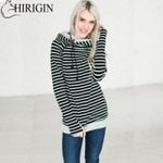 Casual Striped Pocket Hoodies