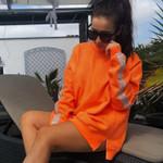 Fashion Fleece Crystal Long Sleeve Loose Warm Sweatshirts