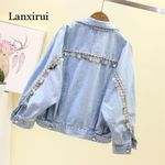 Heavy Metal Sequins Tasseled Jeans Jacket