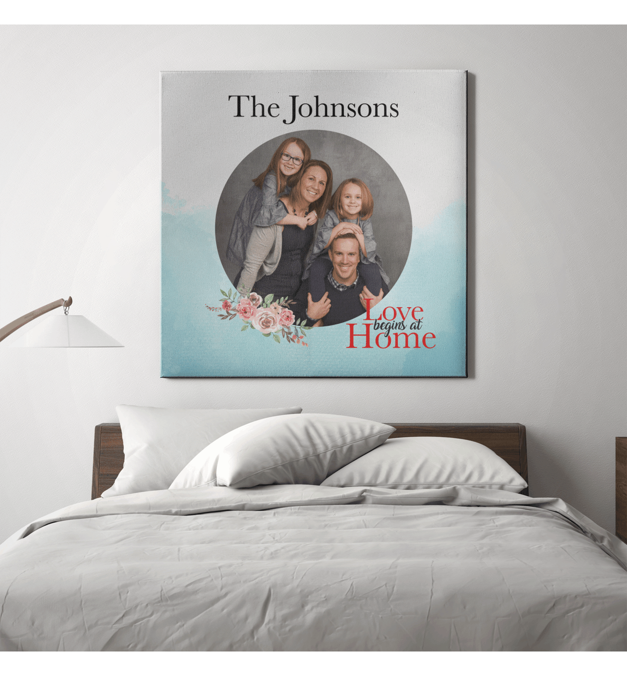 Custom family name frame