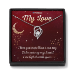 Heart Necklace With Box