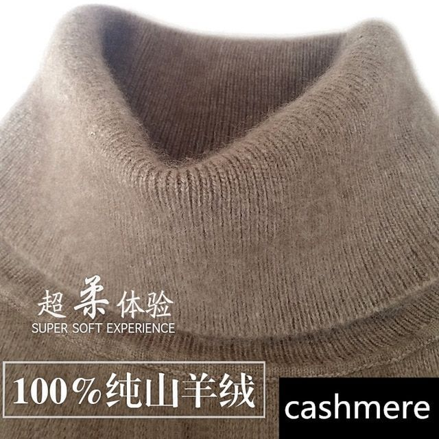 Cashmere turtleneck  sweater pullover  high-neck