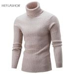 Turtleneck  Fashion Solid Knitted  Sweaters