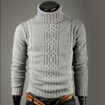 New fashion brand  Knit Long Sleeve Turtleneck