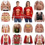 Christmas Sweater Funny Pullover Mens 3D print Sweaters
