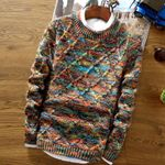 O-Neck Sweater Pullover Knitting