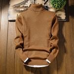 Christmas Sweater Long Sleeve Slim Fit Turtleneck Pullover