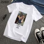 T-Shirts Virgin Mary Printed Short Sleeve Shirts