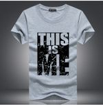 new Brand   Cotton Print T shirt Homme Fitness
