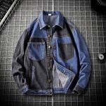 Patchwork Denim Jacket Young Design Street Jacket